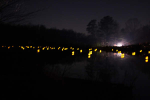 Holiday Remembrance Illumination at Broaddus Pond